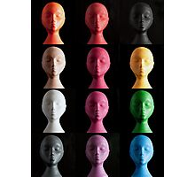 Polystyrene Heads - A Typology Photographic Print