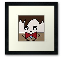 Dr Who 11th Doctor Squ'ed Framed Print