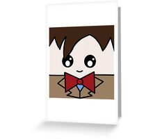 Dr Who 11th Doctor Squ'ed Greeting Card