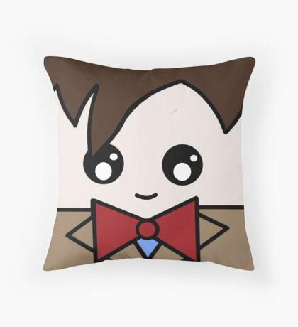 Dr Who 11th Doctor Squ'ed Throw Pillow