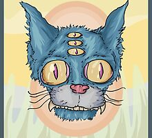 Trippy Kitty by Cameron Grant