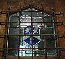 Glass Window on Front Door, Kips Castle by Jane Neill-Hancock