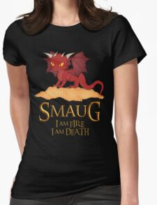 Smaug The Dragon Womens Fitted T-Shirt