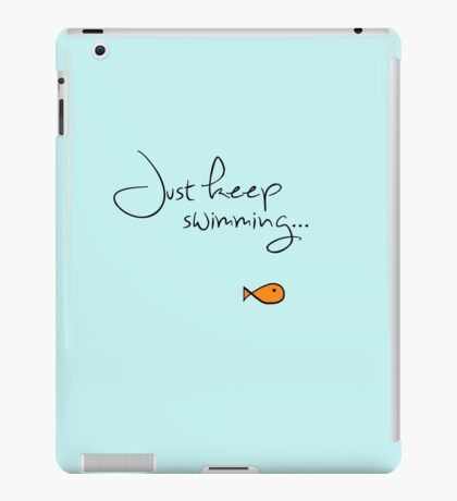 What do we do? We swim, swim. iPad Case/Skin