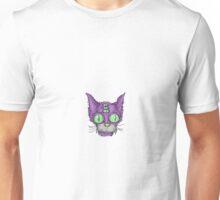 Purple Trippy Kitty Unisex T-Shirt