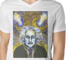 Portrait of Einstein  Mens V-Neck T-Shirt