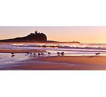Sunrise at Nobbys Beach Photographic Print