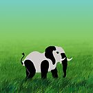 Panda-Phant in the Prairie by vivendulies
