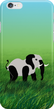 Panda-Phant in the Prairie by vivendulies