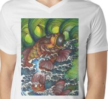 If Hokusai Went to Woodstock Mens V-Neck T-Shirt