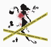 Fashion Victim Crime Scene Fashion Female T-Shirt by CroDesign
