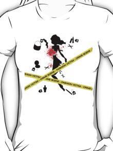 Fashion Victim Crime Scene Fashion Female T-Shirt T-Shirt