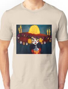 Catrina Skull wrist Unisex T-Shirt
