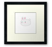 Blushing Bunny Framed Print