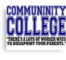 Community College  Canvas Print