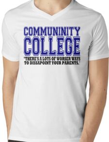 Community College  Mens V-Neck T-Shirt