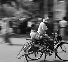 Rickshaw in Myanmar by PerkyBeans