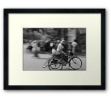 Rickshaw in Myanmar Framed Print