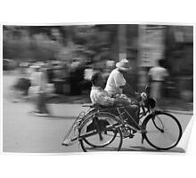 Rickshaw in Myanmar Poster