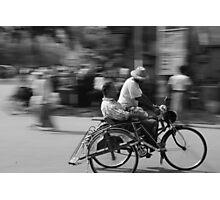 Rickshaw in Myanmar Photographic Print