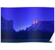Half Dome At Sunset 2 Poster