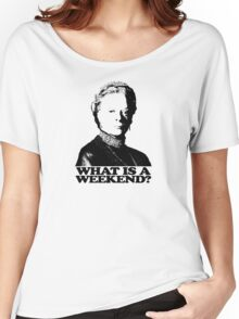 Downton Abbey What Is A Weekend Tshirt Women's Relaxed Fit T-Shirt