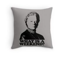 Downton Abbey What Is A Weekend Tshirt Throw Pillow