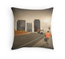 End of shift Throw Pillow