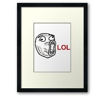 Lol face meme  Framed Print