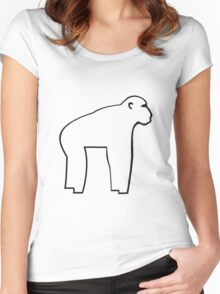 Chimp T Women's Fitted Scoop T-Shirt