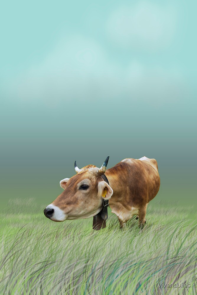 Milk cow in the field VRS2 by vivendulies
