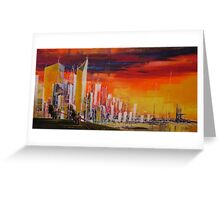 Ride to the city Greeting Card