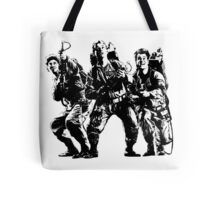 Ghostbusters Film Poster Silhouette Tote Bag