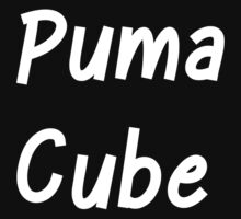Puma Cube (White Letters) Kids Tee
