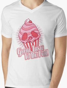 Cupcake Skull Mens V-Neck T-Shirt