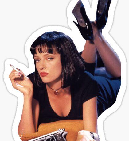 Pulp Fiction Mia Wallace Sticker