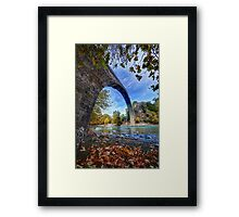 Huge traditional stone bridge in Konitsa Framed Print