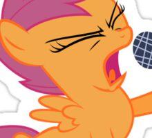 Scootaloo Singing Sticker