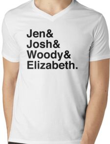 Jen & Josh & Woody & Elizabeth. Mens V-Neck T-Shirt