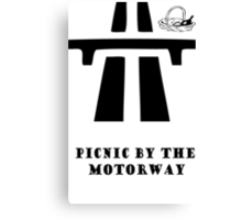 Picnic by the Motorway  Canvas Print
