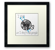 I Knit Framed Print