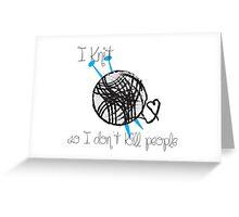 I Knit Greeting Card