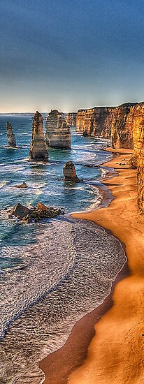Return of the 12 - Twelve Apostles (Vertical Pano) - The HDR Experience by Philip Johnson