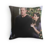Slexie Christmas tree Throw Pillow
