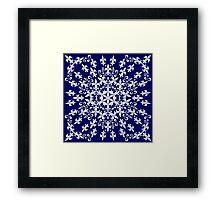 roue de lys (version blanc en bleu) Framed Print