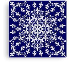 roue de lys (version blanc en bleu) Canvas Print