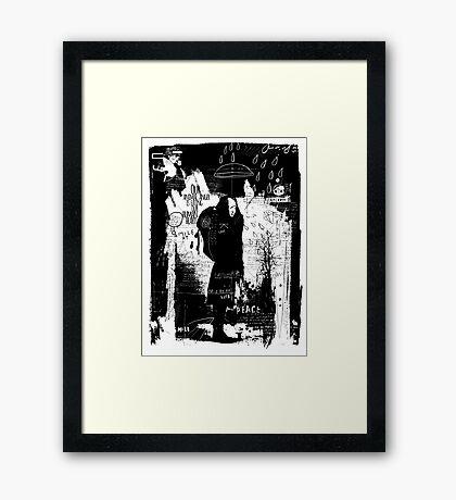 Animal anger Framed Print