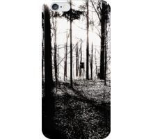 Deer stands in the woods iPhone Case/Skin