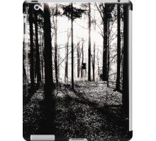 Deer stands in the woods iPad Case/Skin