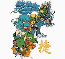 Japanese Mask, Dragon, Koi Unisex T-Shirt